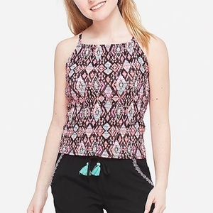 NWT Justice Smoked Pink/Black Tank Top Size 10